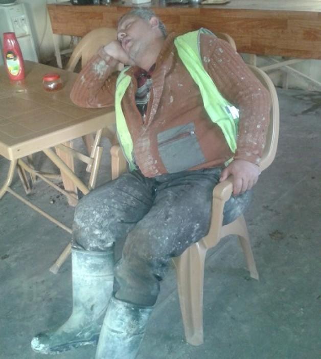 Espiye maden personelleri yorğun.