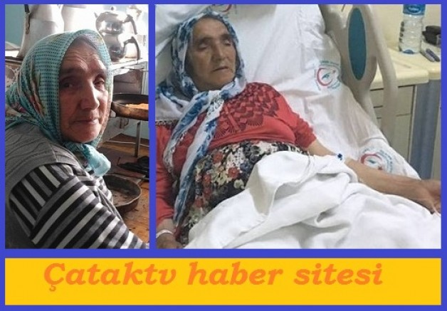 Köyümüzün gülen yüzü; Emriye teyze de hastanede.