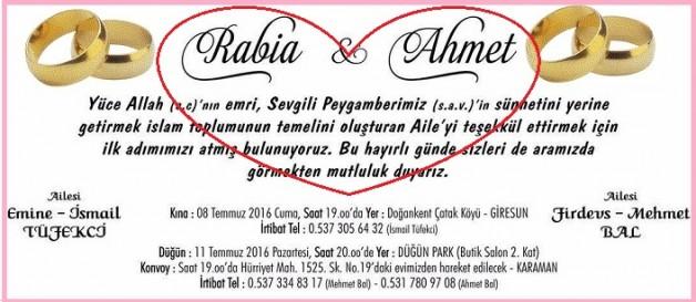 Rabia ile Ahmet'in Kına ve Nişan tarihleri belli oldu…