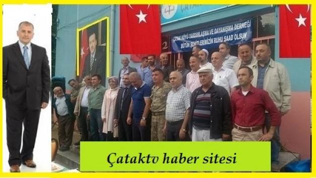 Çatak Köyü'n de Şehitleri anma programı yapıldı.
