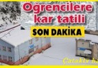 Çatak Köyünde yoğun kar yağışı nedeniyle okullar tatil edildi.