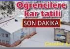 Çatak Köyünde okullar tatil edildi. 15.12.2016-16.12.2016