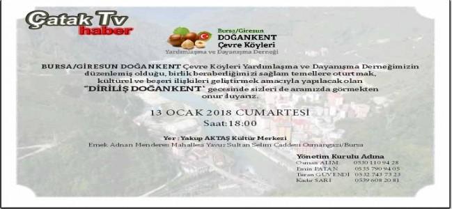 Doğankentliler Bursa'da Buluşuyor