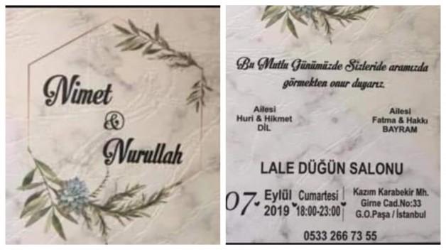 Nişan ilanı…