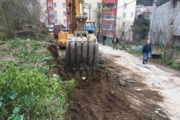 Doğankent Belediyesinden Yol genişleme çalışması