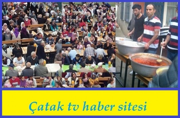 Çatak Köyünde İftar yemeği geleneği devam ediyor.