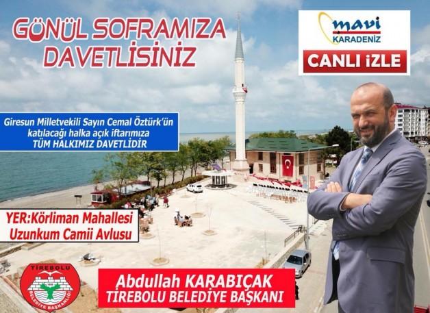 Tirebolu Belediyesinden İftar Programı