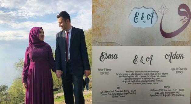 Adem Tüfekçi&Esma Kibritçi evleniyor.