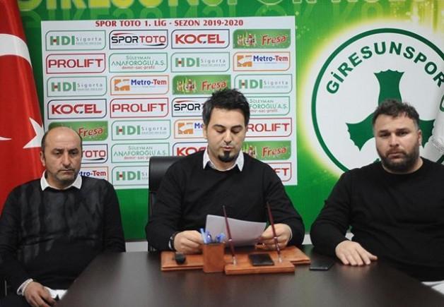 Giresunspordan Basın açıklaması